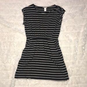 H&M Grey Stripe Dress, xs